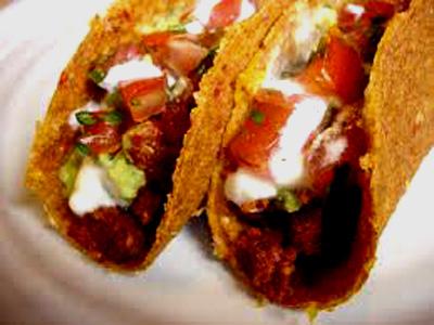Tacos alla messicana crudisti