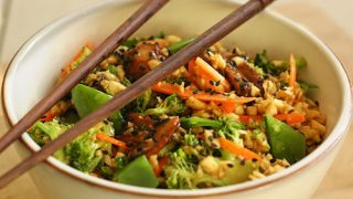 Ricetta funghi e broccoli in scodella