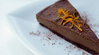 torta cruda all'arancia e cacao