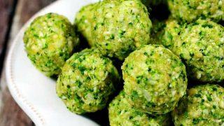 Polpette con broccoli crudi