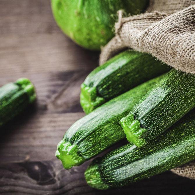 Menù crudista di luglio a base di zucchine