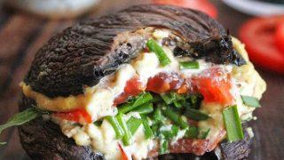 Ricetta burger di funghi e pomodori