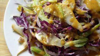 Ricetta insalata pera e cavolo con french dressing