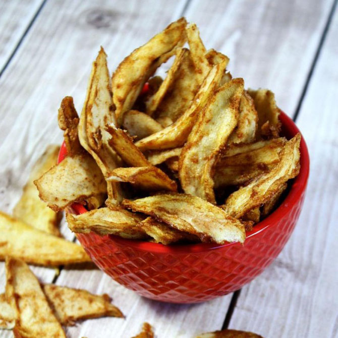 Ricetta chips raw vegan pera cannella